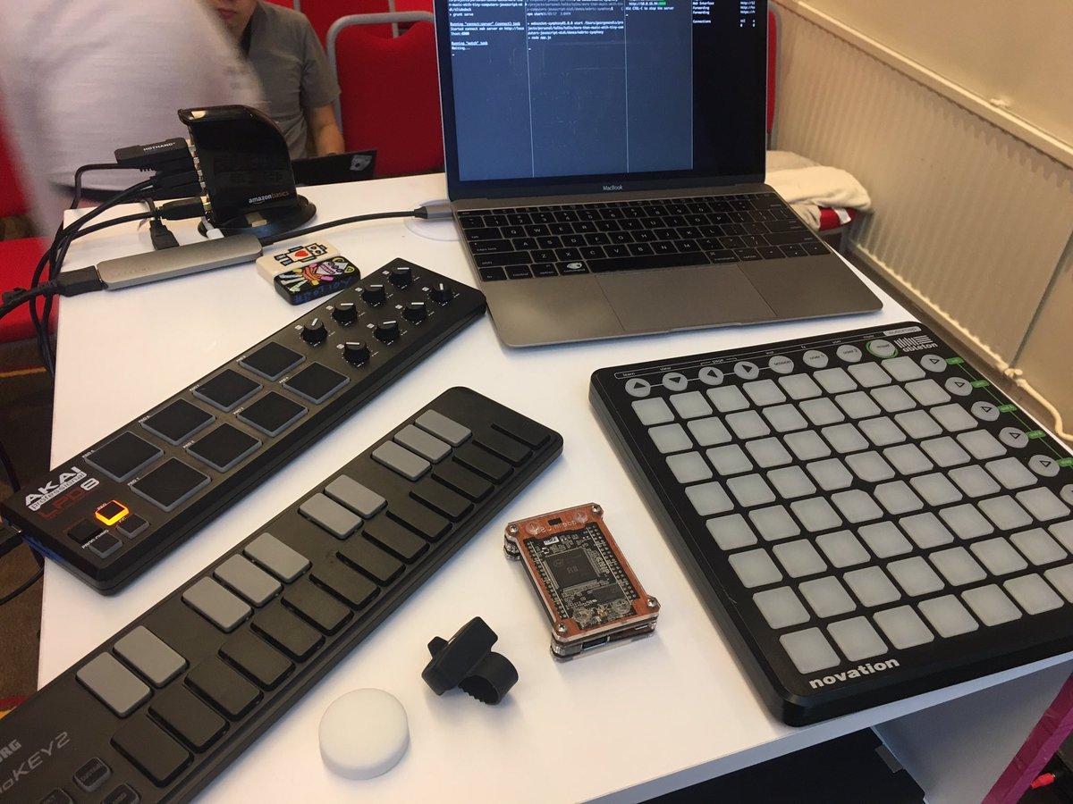 My More Than MIDI Setup at HolyJS